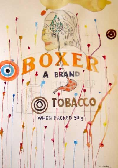 Wayne Barker, Boxer, watercolours