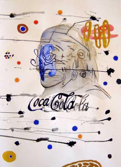 Wayne Barker, Coca-Cola, watercolours
