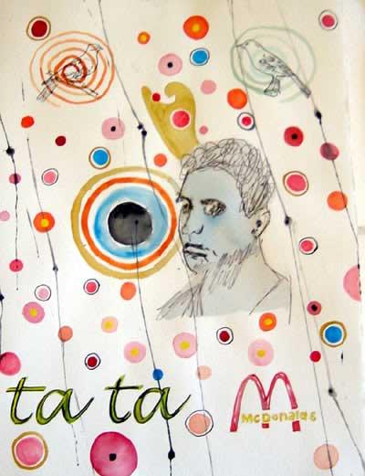 Wayne Barker, McDonalds, watercolours