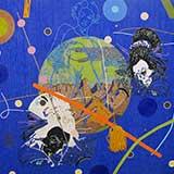 Beadwork Wayne Barker, Blue, 2013