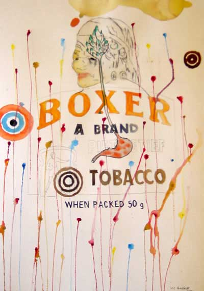 Wayne Barker, Boxer, watercolours