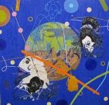Beadwork Wayne Barker, BLUE